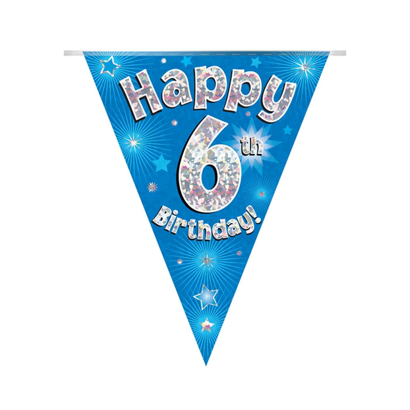 Blue Bunting Happy 6th Birthday