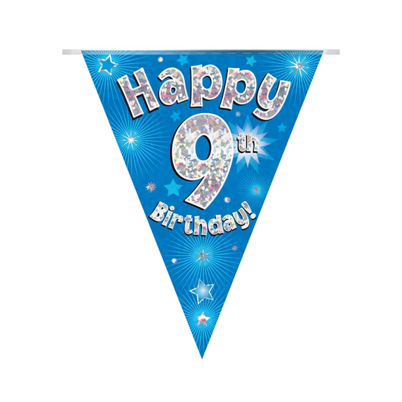 Blue Bunting Happy 9th Birthday