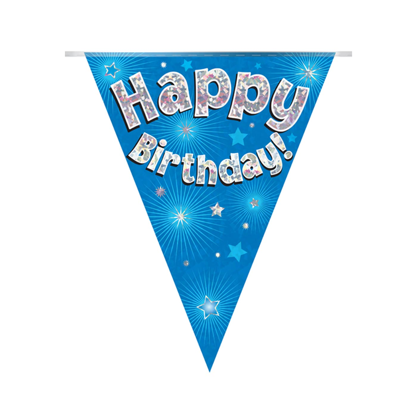 Blue Bunting Happy Birthday
