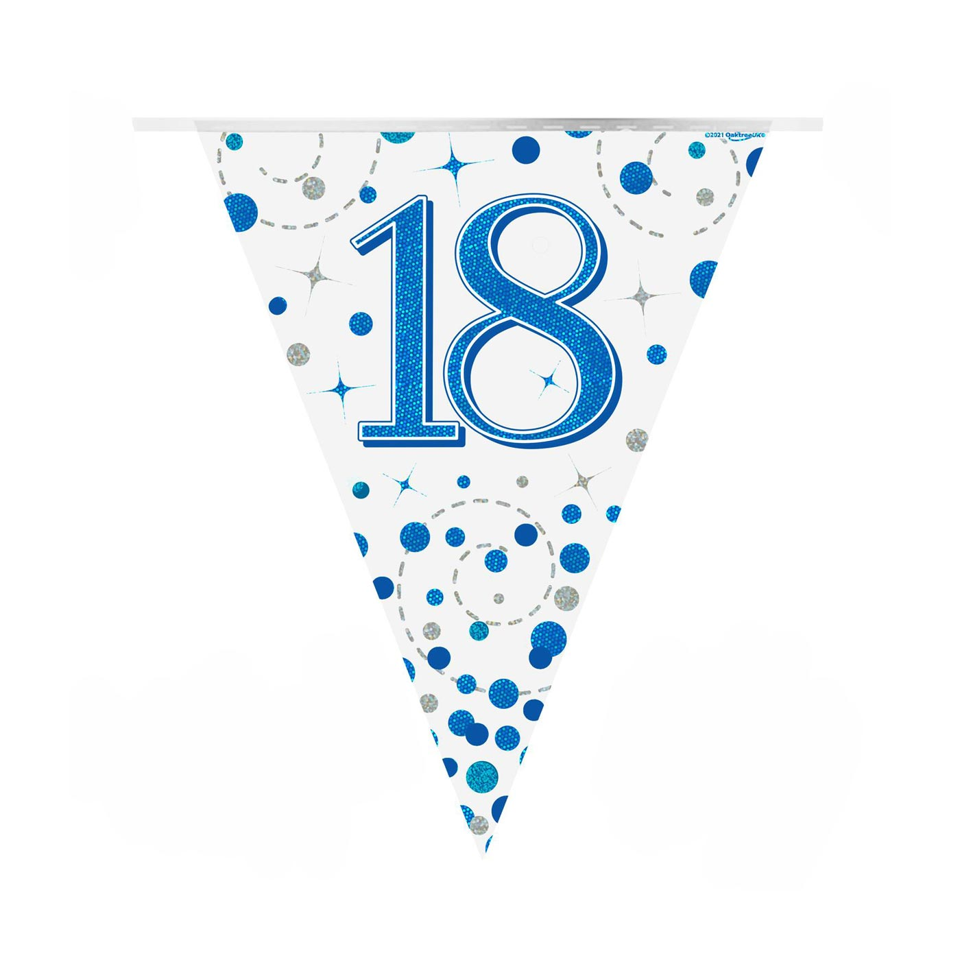Blue Fizz Bunting Happy 18th Birthday