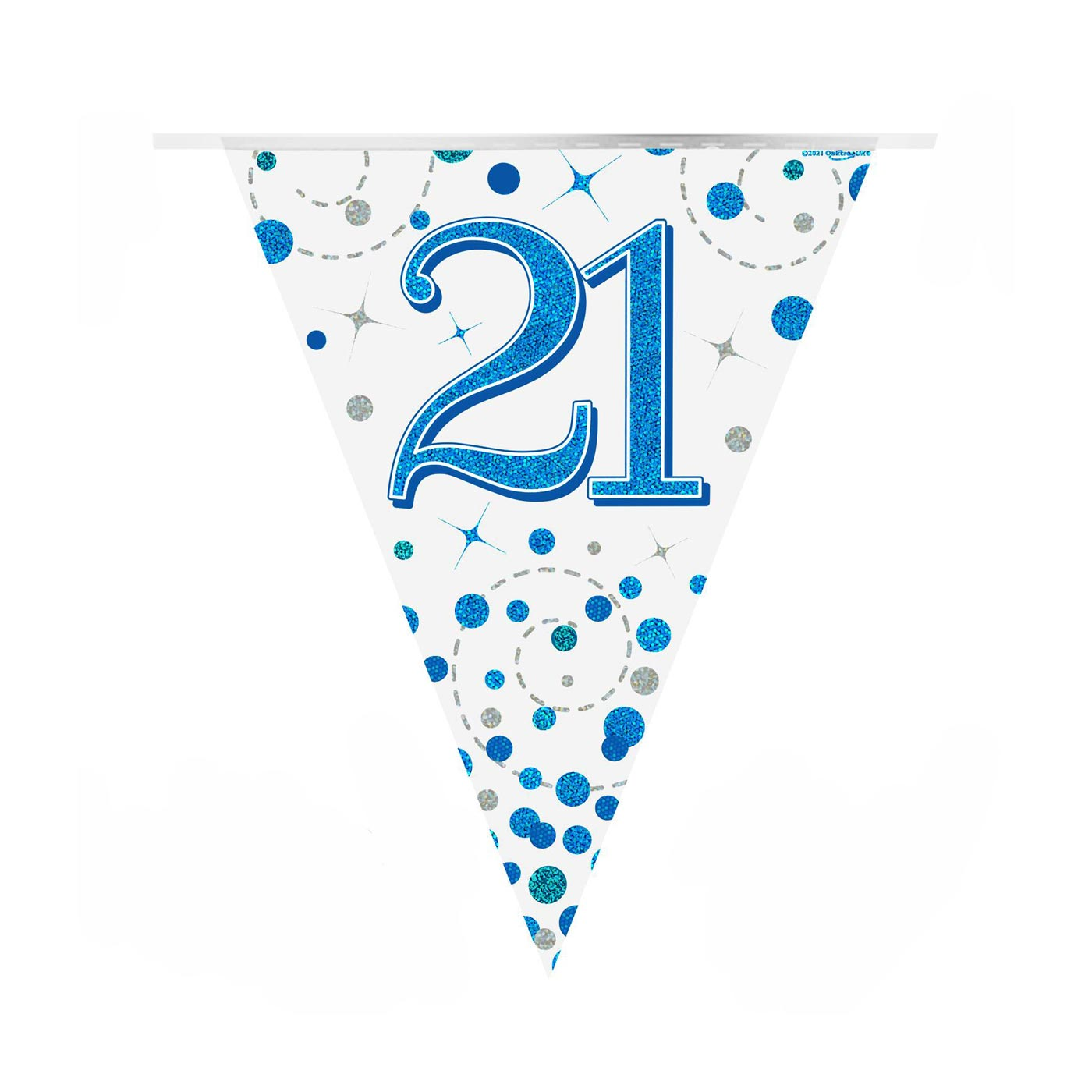 Blue Fizz Bunting Happy 21st Birthday