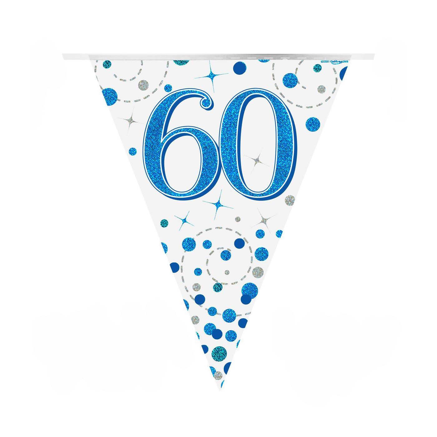 Blue Fizz Bunting Happy 60th Bunting
