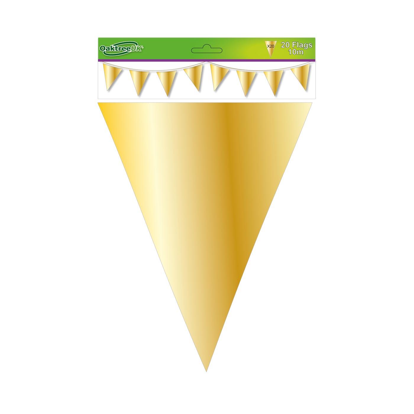Gold Metallic Bunting
