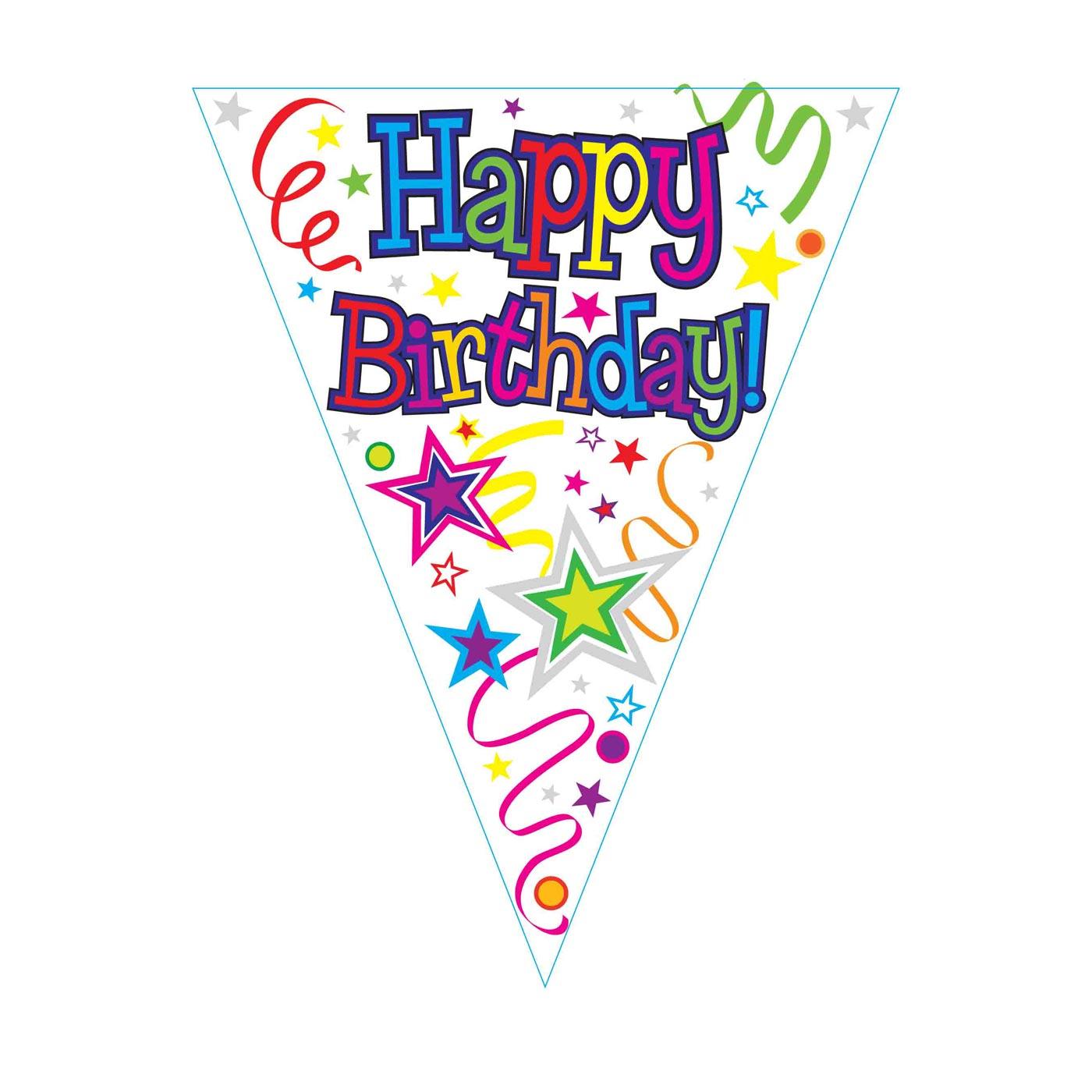 Happy Birthday Ribbons and Stars Bunting