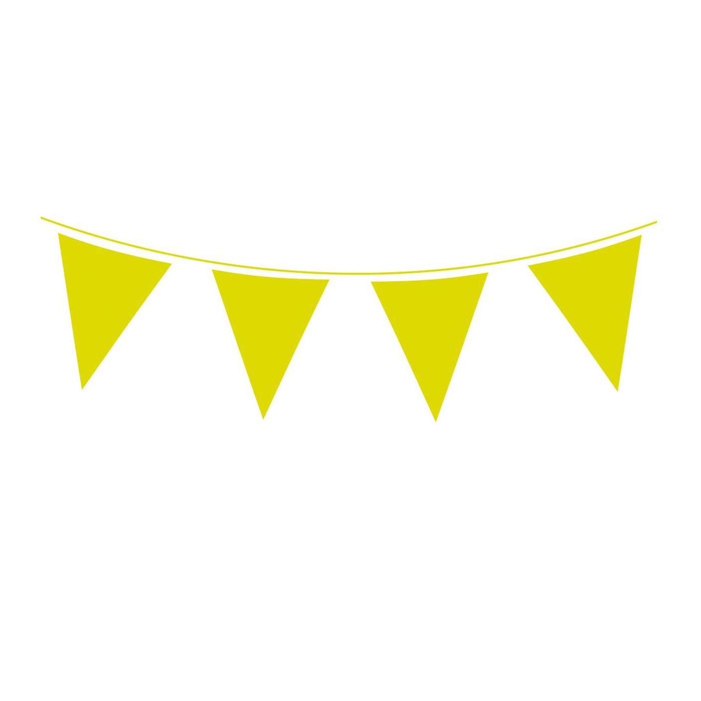 Lime Green Bunting