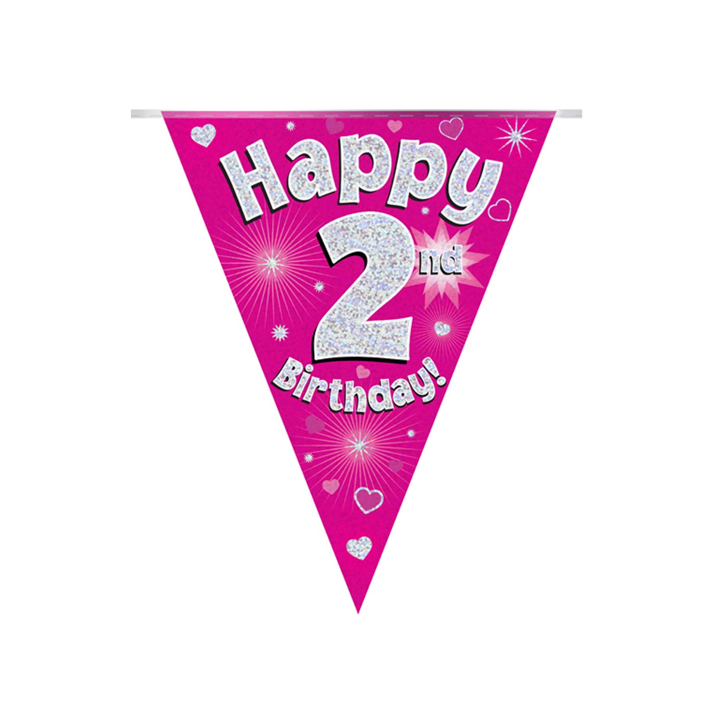 Pink Bunting Happy 2nd Birthday