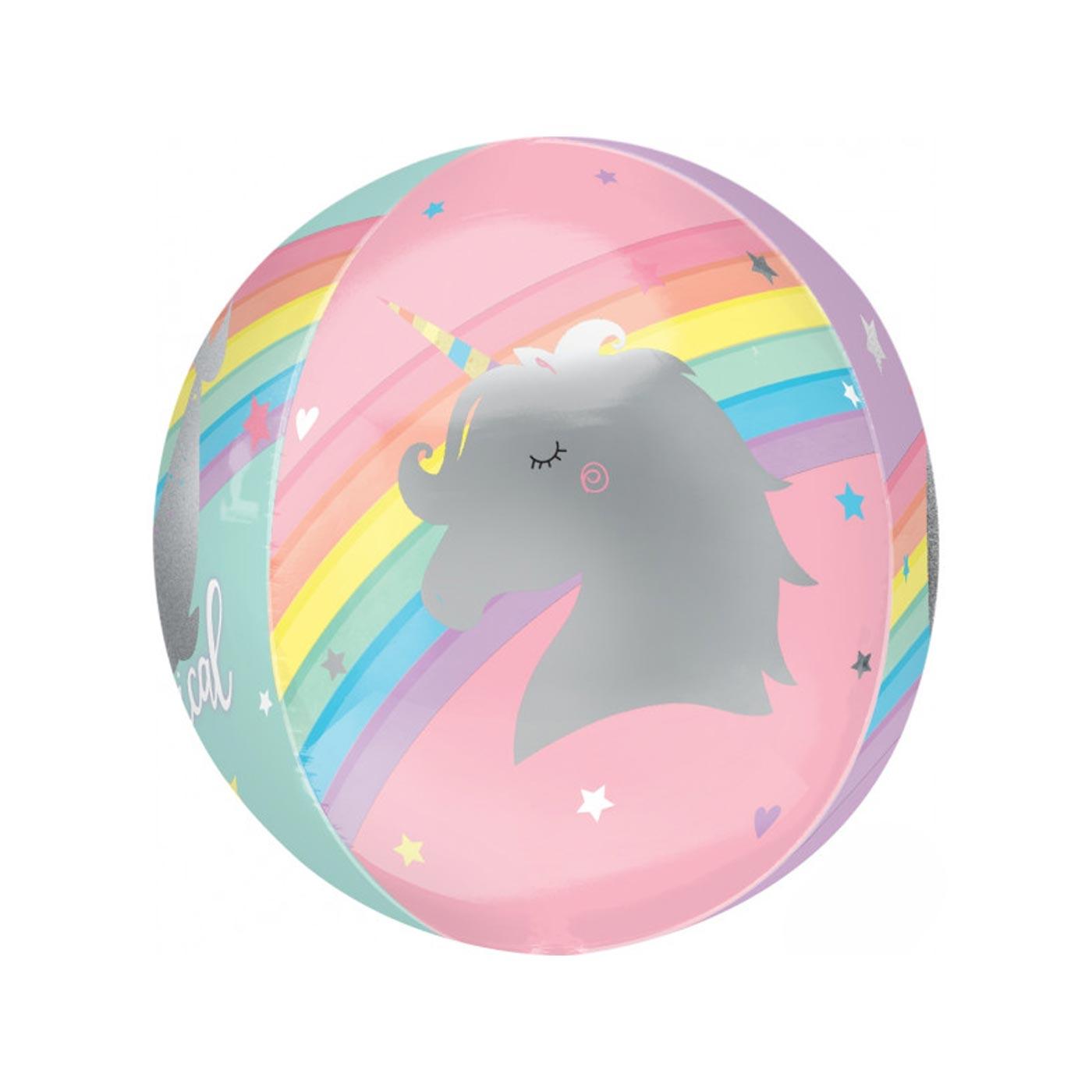 Rainbow Magical Unicorn Orbz Balloon