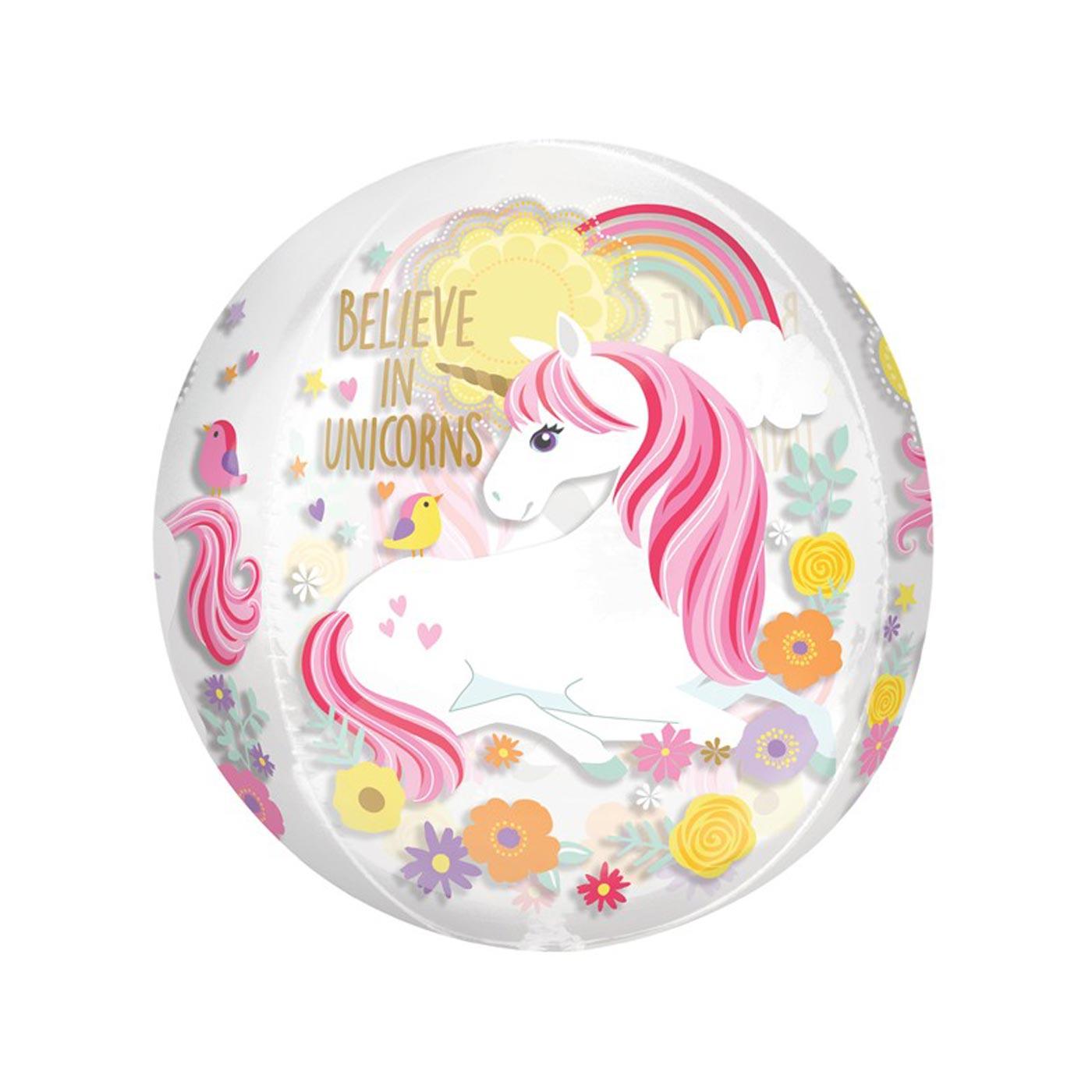 Unicorn Magical Orbz Balloon