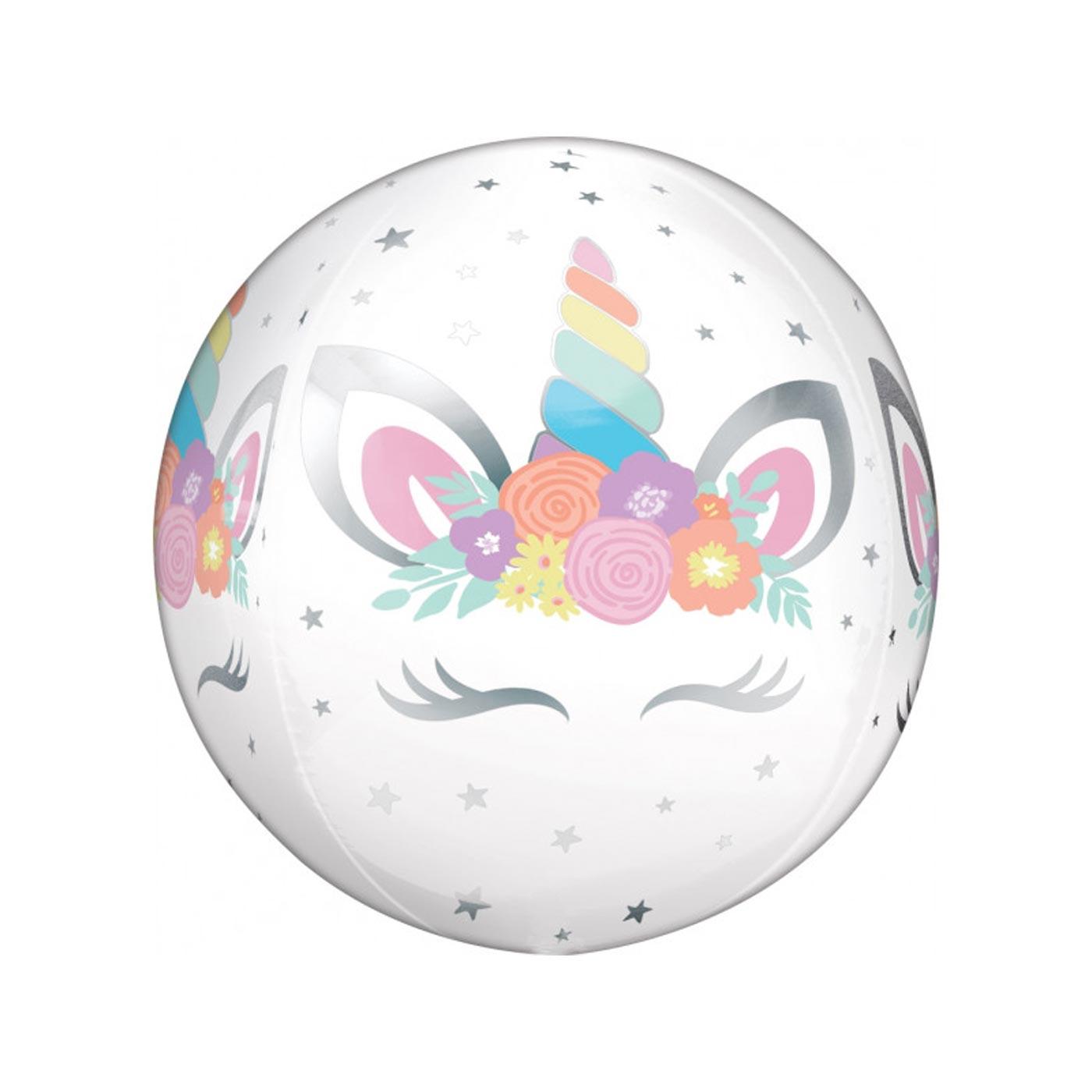 Unicorn Party Orbz Balloon