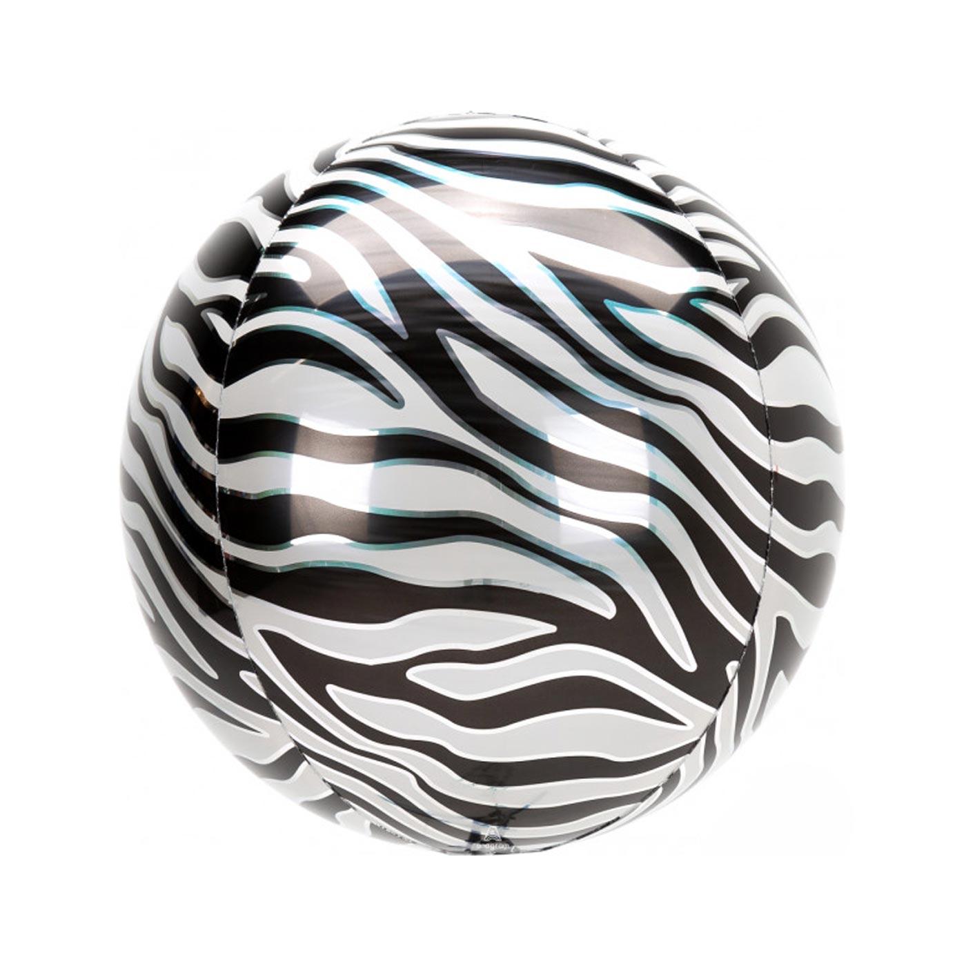 Zebra Print Orbz Balloon