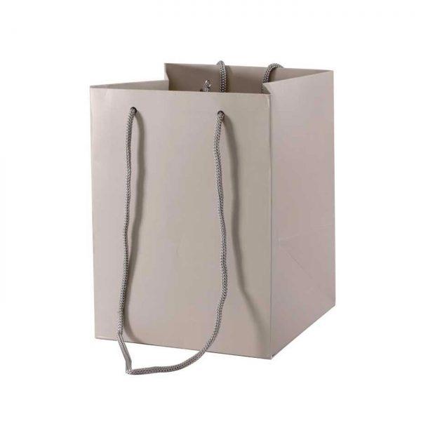 Hand Tied Bag Stone Grey