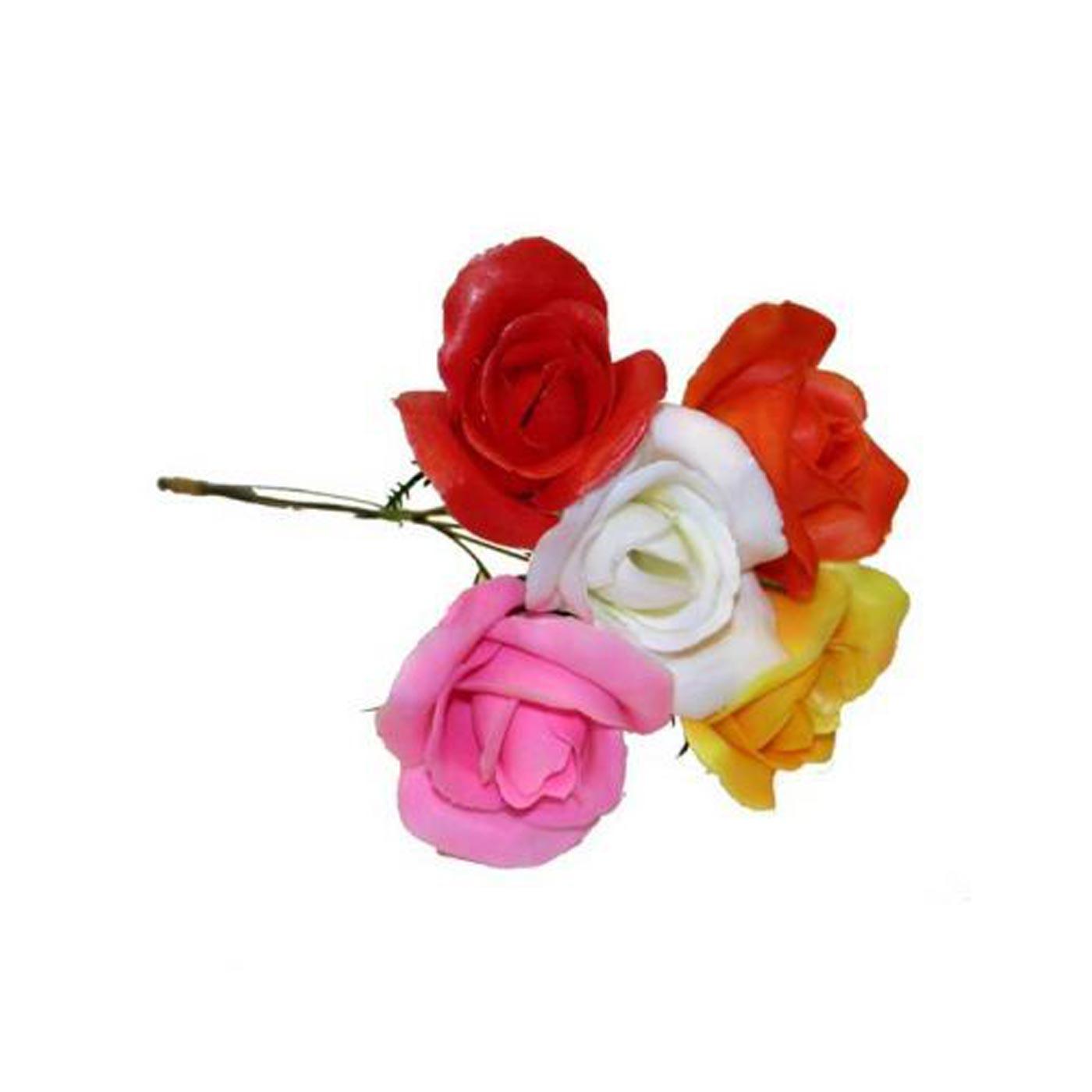 Plastic Asst Roses